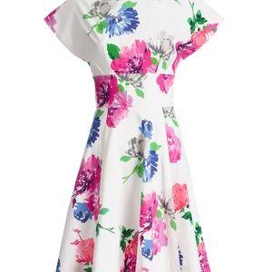 kate spade ♠️ in full bloom floral boatneck dress
